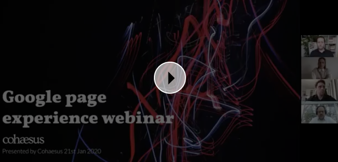 Watch our Google Page Experience webinar